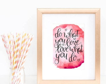 Motivational Prints Set, Watercolor Prints , Printable Quotes, Motivational Wall Art, Hand Lettered Prints,  Instant Download
