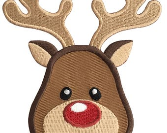 Reindeer Iron-On Patch Applique -  Kids / Christmas