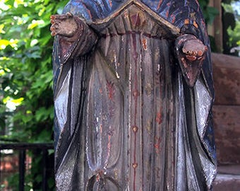 Mother Mary Inmaculada Santos Carving, Central America, 1920-40