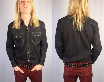 "Vintage Western ""Dee-Cee"" Mens Permanent Press Shirt"