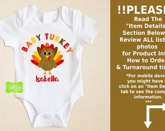 Personalized Turkey Iron On - Baby Sister Turkey Iron On - Turkey Iron On - Turkey Transfer - Baby Sister Decal - EMAILED or SHIPPED