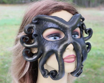 leather Kraken octopus looking mask