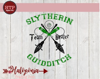Slytherin Quidditch Beater SVG File (Harry Potter)