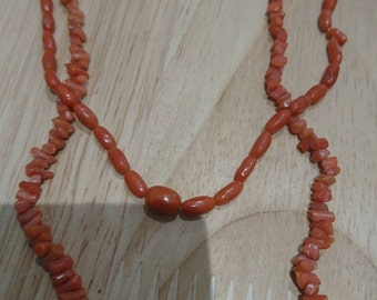 Two Antique coral necklaces