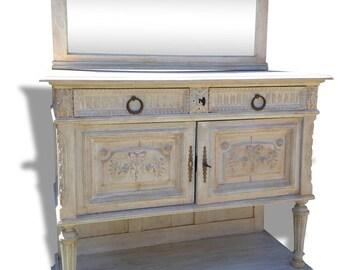 White weathered Base cabinet