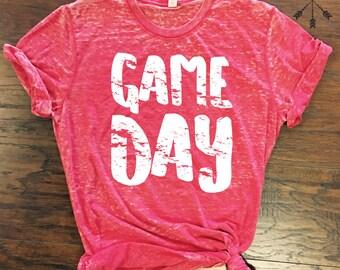 game day tee, red game day shirt, football shirt, huskers shirt, sorority game day shirt