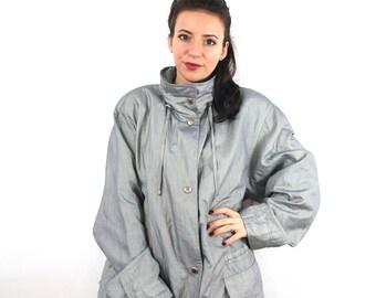 Vintage Silver Jacket, Coat.