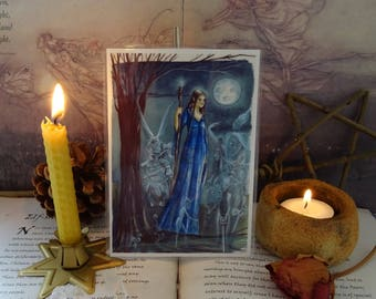 Moon Spirits ~ Mini Laminated Art Print
