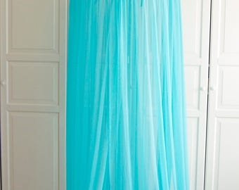 READY TO SHIP Turquoise Baldachin - Tulle Canopy, Crib Bed Mesh Canopy,  Nursery canopy