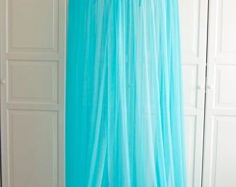 READY TO SHIP Turquoise Baldachin - Tulle Canopy Crib Bed Mesh Canopy Nursery canopy & Boho canopy | Etsy