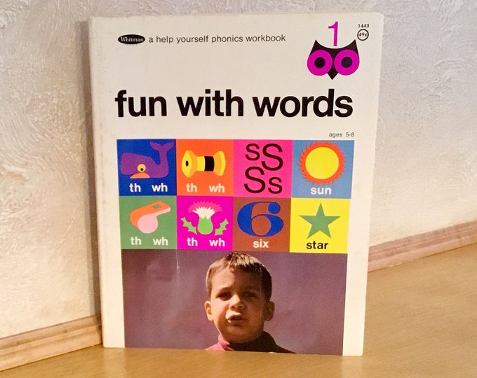 "WHITMAN ""Fun With Words"" PHONICS WORKBOOK (1968)"