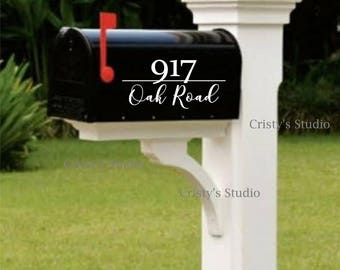 Mailbox Number and Address Decal