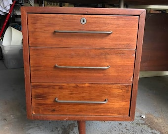 Mid Century Desk Floating Top Office Furniture