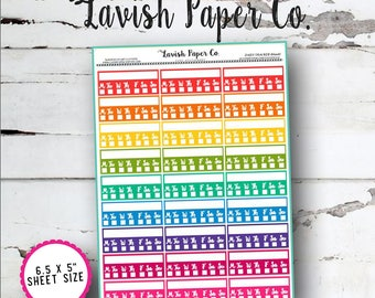 Weekly Tracker (blank) Planner Stickers by Lavish Paper Co. | Rainbow | for Erin Condren, inkWELL Press, Happy Planner, LimeLife and more!