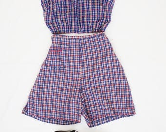 Vintage 90s Plaid Highwaisted Roxy Quicksilver Lightweight Shorts-Size Small