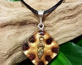 Garnet Orgone Pendant - Earth Mother Goddess - Root Chakra Balancing Spiritual Gift Necklace - Small
