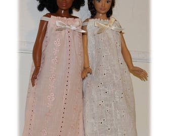 Lammily Clothes.  Summer Nightgown.  Peaches or Cream.  Handmade in the USA.  Does not fit Barbie sized  Dolls.