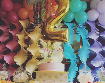 Premium Crepe Paper Streamers Customize your colors! Perfect for theme Birthday Party; Photo Booth backdrop; background cake gift food table