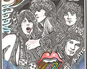 Rolling Stones Poster by Posterography