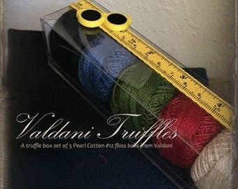 "Valdani Thread: Gift Set/5 Perle Cotton Embroidery Thread Balls - ""Schoolhouse Rock"" Collection"