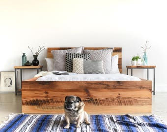 Modern Reclaimed Wood Platform Bed