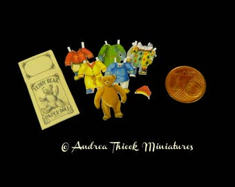 Miniatures Teddy Paper Doll - 1:12 scale