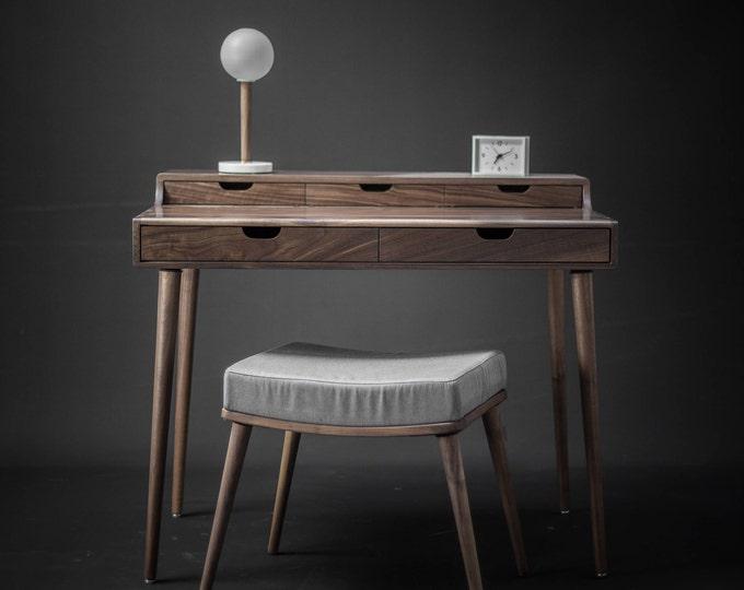 Solid Walnut Vanity , Dressing Table , Desk