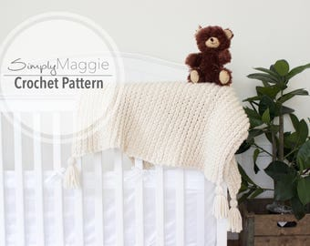 Crochet Ribbed Toddler Blanket Pattern Baby Knit