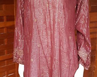 Indian Oh Calcutta 70s Designer Tunic Top
