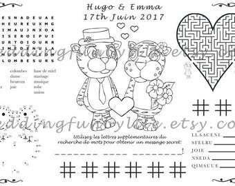 Wedding Activity Page PDF Kids Printable at Home Gay