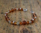 Real Amber Bracelet - Amber Jewellery, Amber Beaded Bracelet, Amber Jewelry, Silver Bracelet, Christmas Gift, Gift for Her, Gift Wrapped