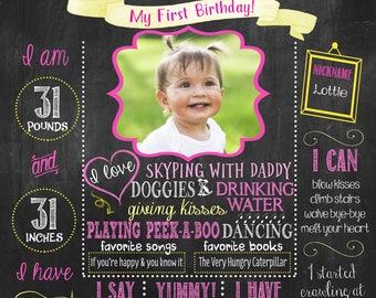 Sunshine first birthday Chalkboard poster, Sunshine birthday sign, First birthday Chalkboard, Summer birthday chalkboard DIGITAL FILE