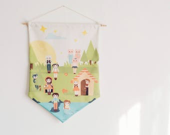 Hanging Wall Banner, Cuentos Collection