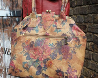 Lucy Framed Bag in Summer Garden Floral Leather