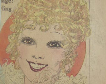 Original 1928 Sexy Blonde Haired Woman Smiling Newspaper Clipping By Nell Brinkley
