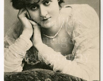 Miss Margaret Halstan Edwardian Actress RPPC Postcard - Raphael Tuck & Sons - Unused