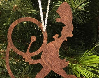 12 Days of Christmas Twelve Drummers Drumming Wooden Ornament