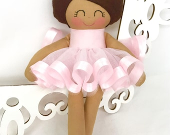 Ballerina Dancing Dolls- Pink- Handmade Doll - Girl Toy