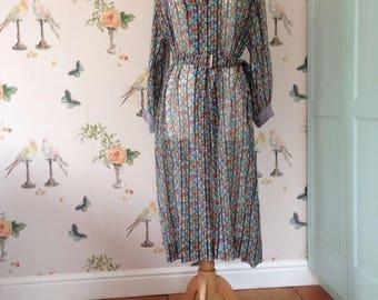 1950S SHEER FLORAL DRESS