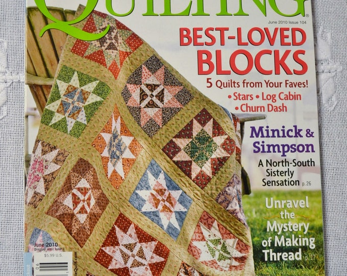 American Patchwork and Quilting Magazine June 2010 Issue Quilting Sewing Pattern Instructions DIY Craft PanchosPorch