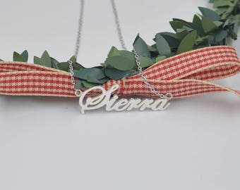 Name necklace-personalized name necklace-sterling silver name jewelry-custom name gift for her