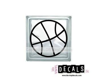 Basketball - Sports and Athlete Vinyl Lettering for Glass Blocks