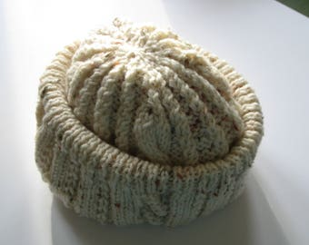 Knitted Cream Hat