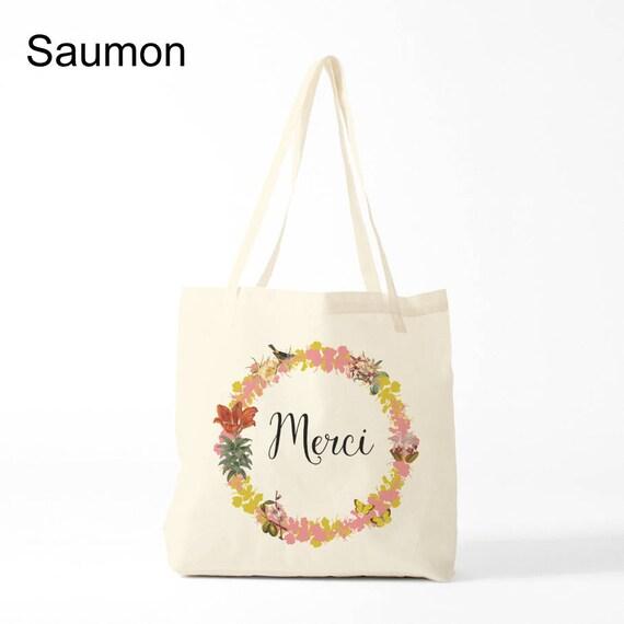 Merci Tote bag. Cotton bag, sports bag, yoga bag, baby bag, groceries bag, school bag, novelty gift, canvas bag.