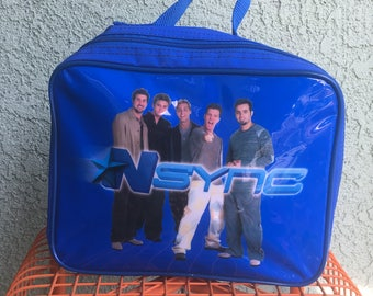 NSync 90's Blue Lunch Pail Purse Tote