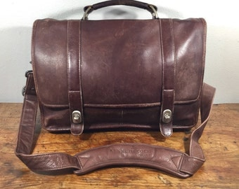 Kenneth Cole Brown Leather Briefcase
