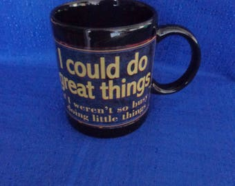 Sarcasm Coffee Mug,I Could Do Great Things If I weren't so Busy Doing Little Things Black Coffee Cup,Funny Coffee Mug,Coffee Humor,Gift Mug