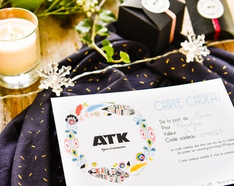 Gift Card ATK- Jewelry - value 15 euros