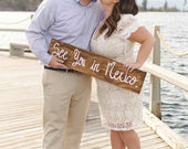 Destination Wedding Sign, Engagement Sign, Save The Date, Engagement Photo Prop, Personalized, Custom Made, Wooden Sign, See You In Mexico