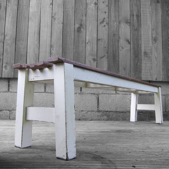 Dining Bench Seat Vintage School Gym Bench Rustic Reclaimed 1960s